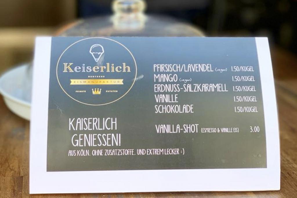 Kaiserliches Eisangebot bei Kaffee & Kuchen